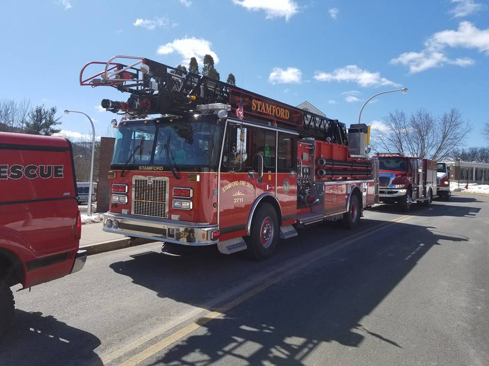 ladder truck in line up