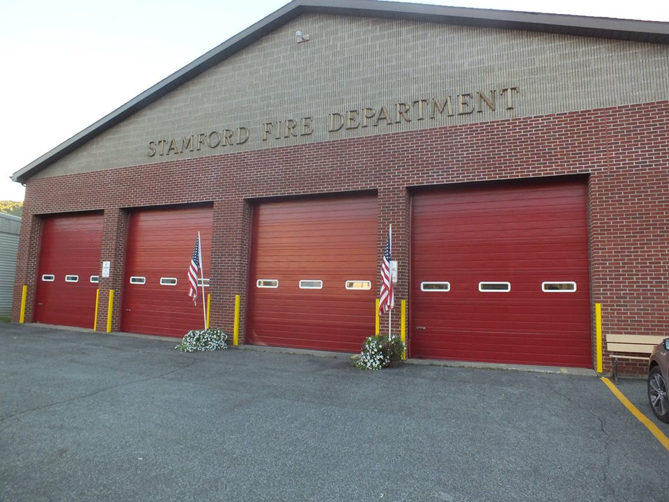 newly painted front of fire department