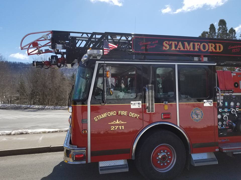 front of ladder truck